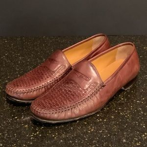Johnston & Murphy Brown Woven Toe Penny Loafer